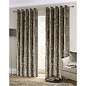 Rapport Crushed Velvet Eyelet Curtains - Mink