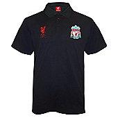 Liverpool FC Mens Polo Shirt - Black