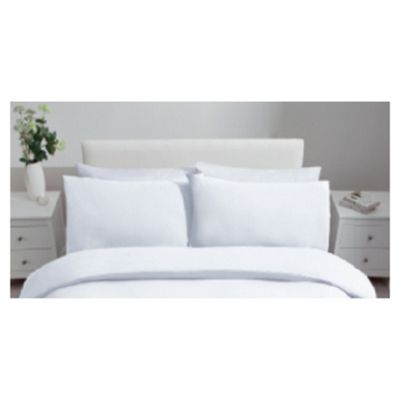Tesco Jersey Twinpack Pillowcases White
