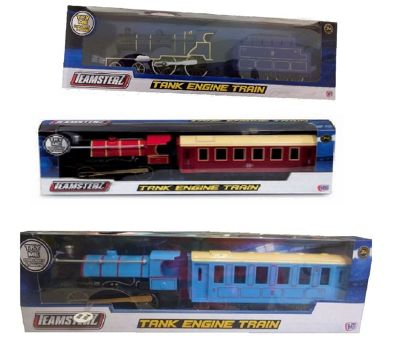 Teamsterz Tank Engine Train X3 (Light Blue, Dark Blue + Red)