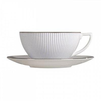 Wedgwood Jasper Conran Pinstripe Teacup and Saucer (Pair)