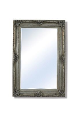 Large Silver Very Ornate Big Shabby Chic Wall Mirror 6Ft2 X 4Ft2 188Cm X 127Cm