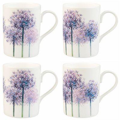 Roy Kirkham Set of 4 Alliums Mugs