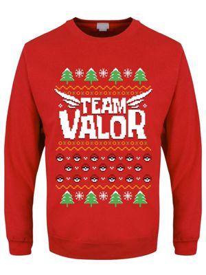 Team Valor Red Men's Christmas Jumper