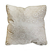 Art for Home Antique Lace Printed Cream Filled Cushion
