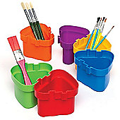 Connector Interlocking Pots for Painting and Children's Arts and Crafts Projects (Pack of 6)