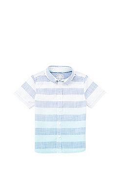 F&F Woven Striped Short Sleeve Shirt - Blue & White