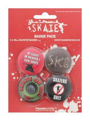 Skateboarding Skater Skate or Die Badge Pack 10.5x14.5cm