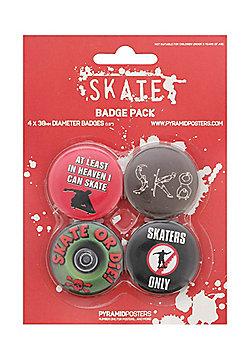 Skateboarding Skater Skate or Die Badge Pack 10.5x14.5cm - Multi