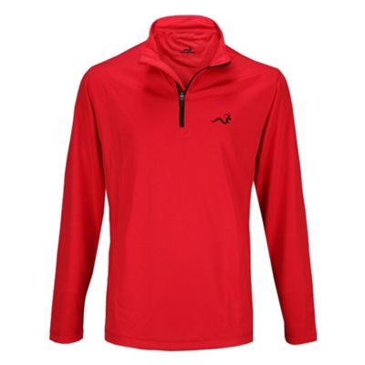 Woodworm Golf Mens 1/4 Zip Pullover / Sweater / Jumper Red/Black Xl
