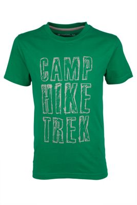 Camp Hike Trek Kids Tee Boys T-Shirt Short Sleeve Printed Breathable
