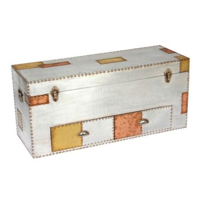 Aluminium and Copper Chest of Drawers Width: 111cm