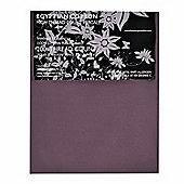 Homescapes 100% Egyptian Cotton Flat Sheet Plain 200 Thread Count - Purple