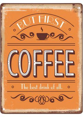 But First Coffee Mini Tin Sign