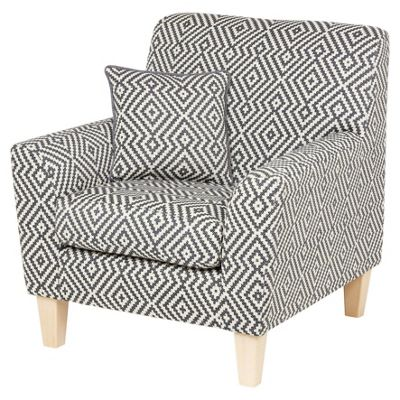 Bargello Accent Chair, Dark Grey