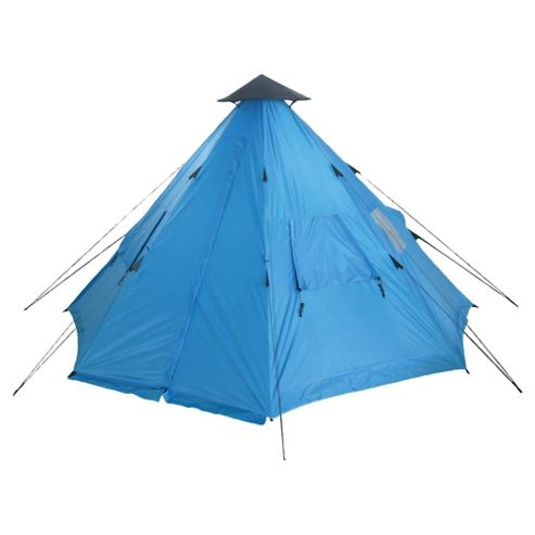 Tesco 2-Man Teepee Tent, Blue