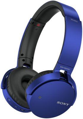 Sony MDRXB650BT Wireless Headphones (Blue)