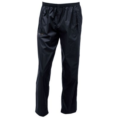 Regatta Mens Pack It Overtrousers Black M