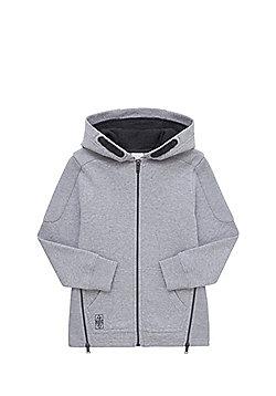 F&F Zip Hem Zip-Through Hoodie - Grey
