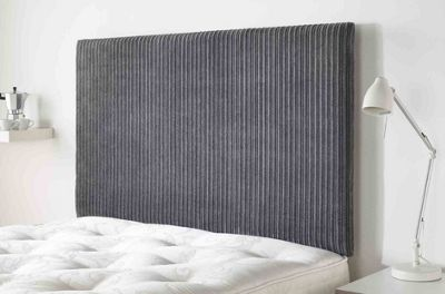 Aspire Furniture Lightmoor Headboard in Loumaire Corded Fabric - Charcoal - Single 3ft