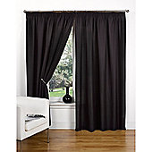 Hamilton McBride Canvas Unlined Pencil Pleat Curtains - Black