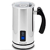Andrew James Electric Dual Milk Frother and Warmer in Silver - 500W