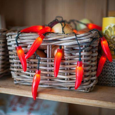 20 Red Chilli Pepper Battery LED Fairy Lights