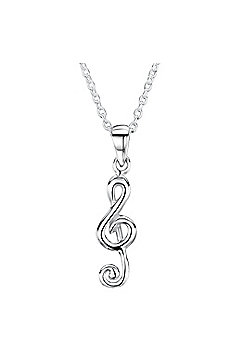 Jo For Girls Silver Musical Note Pendant