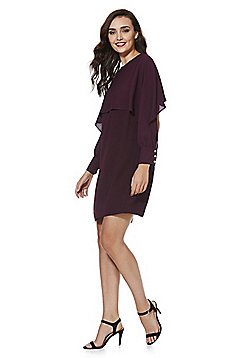 F&F Chiffon Cape Dress - Purple