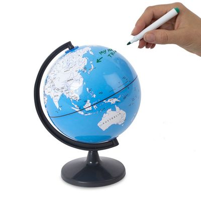 Travel planner Note Globe with Dry Wipe Marker World Map Office Toy
