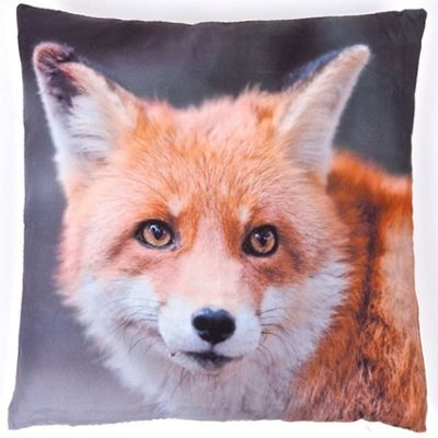 Photographic Fox Square Cushion