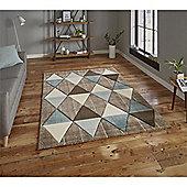 Brooklyn Triangles Rug - Blue