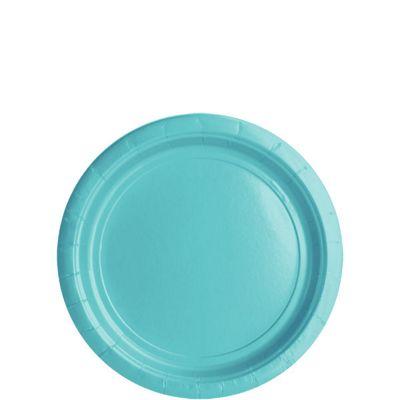 Robin's-Egg Blue Plates - 17cm Paper