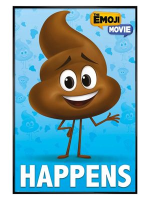 The Emoji Movie Gloss Black Framed P*OP Happens Poster 61 x 91.5cm