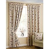 Papillon Pencil Pleat Curtains, Red 229x229cm