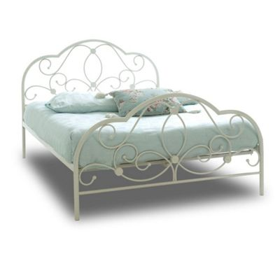 Buy White Parisian Style 4ft Metal Bed Frame From Our Small Doubles