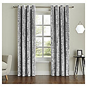 "Fox & Ivy  Lined Velvet Curtains -  - 66x54"" - Grey"
