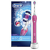 Oral-B Pro 2 (2000) 3D White Pink Electric Rechargeable Toothbrush