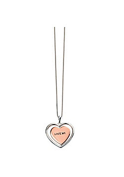 Rose Gold and Silver Love Me Spinning Necklace