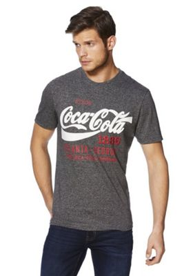 Coca Cola Americana Embroidered T-Shirt Charcoal S