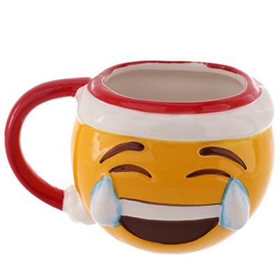 Puckator Christmas Emotive Shaped Ceramic Mug, Joy