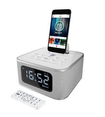 Majority Neptune iPhone Speaker Dock Alarm Clock White