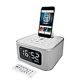 Majority Neptune iPhone Speaker Dock Alarm Clock White