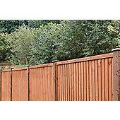 Closeboard 0.9m Brown Panel - 4 Pack