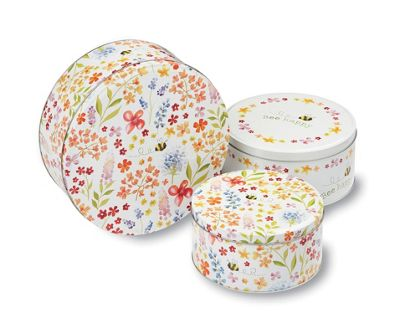 Cooksmart Bee Happy Set of 3 Printed Cake Tins