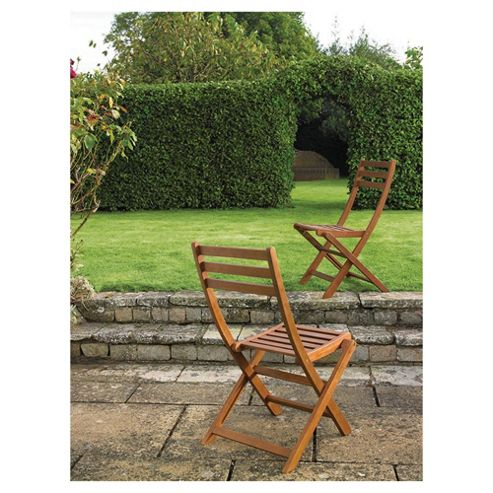 Windsor Wooden Folding Bistro Chairs 2pk