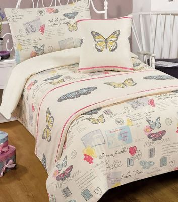 French Style Butterfly Single Bed in a Bag