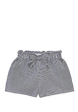 F&F Striped Bow Waist Shorts - Navy