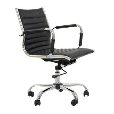 Jenson Faux Leather Office Chair Black