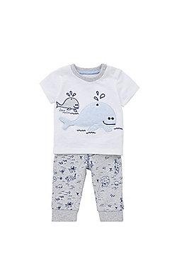 F&F Whale Embroidered Pyjamas - Multi